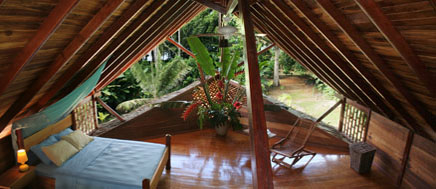 Costa Rica Tree House Lodge: upstairs open bedroom