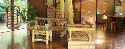 Costa Rica Tree House Lodge: beach suite open living room